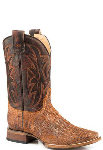 Roper Sidewinder CCS Pierce Western Boot - Distressed Cognac